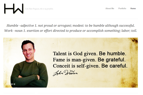 humblework nate ferguson portfolio website