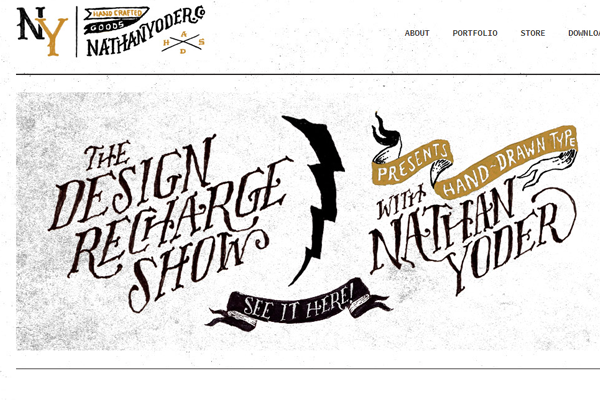nathan yoder website portfolio layout