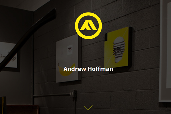 andrew hoffman portfolio website layout