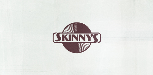 skinny records logo design icon inspiration