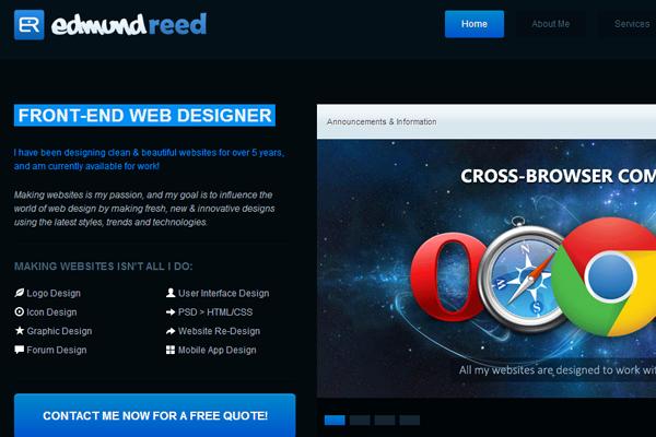 edmund reed website portfolio designer