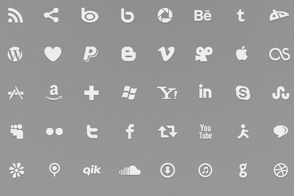 social media icons typography free font download