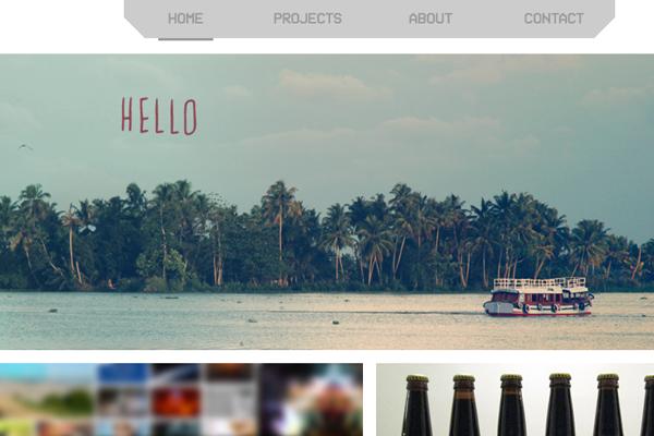 daniel toth portfolio website layout