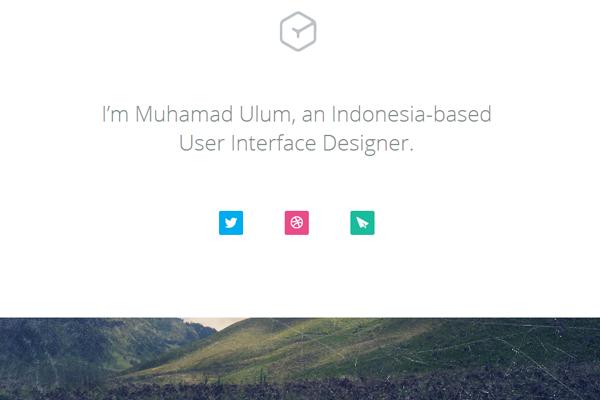 muhamad ulum portfolio website layout