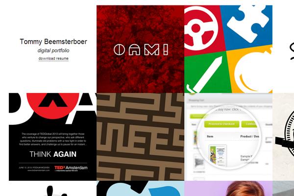 tom beemsterboer digital portfolio design