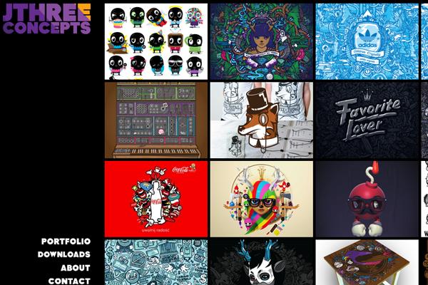 jared nickerson portfolio website layout