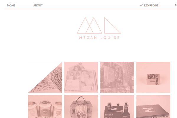 megan louise pink portfolio website design