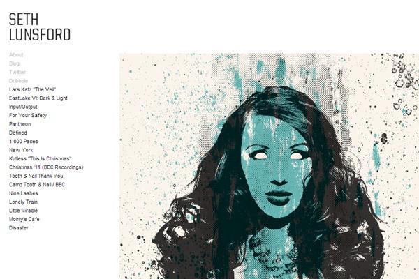 seth lunsford website portfolio layout