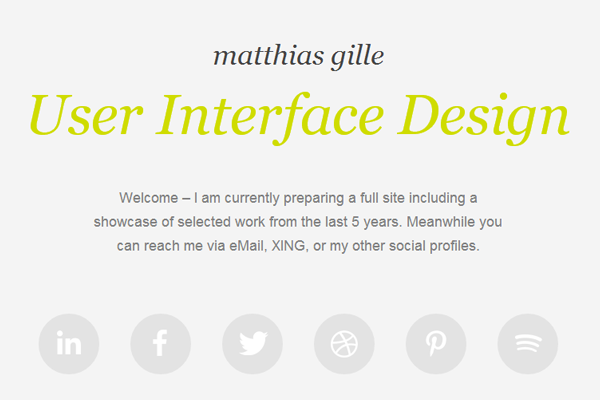 matthias gille website layout portfolio