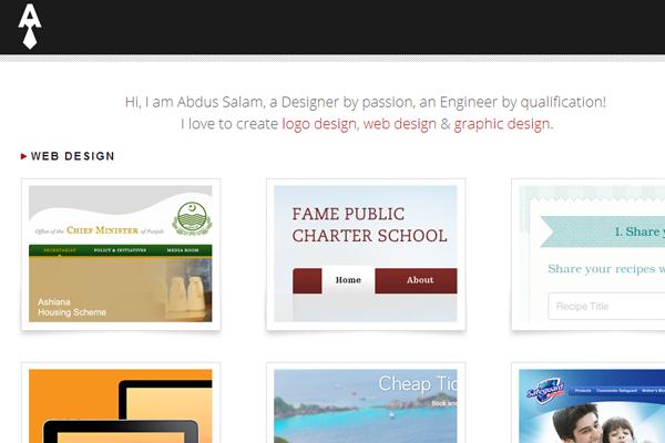 abdus salam designer website portfolio