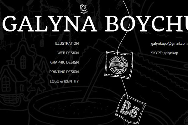 galynka boychuk website portfolio designer