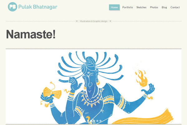 pulak bhatnagar website portfolio layout design