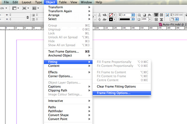 adobe auto fit graphics indesign cs5 tutorial