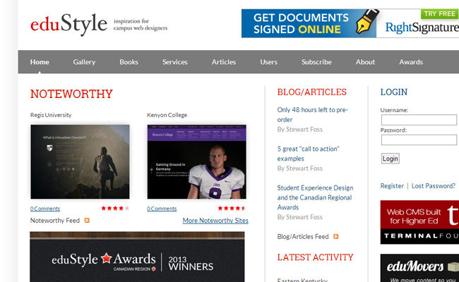edustyle educational website css gallery