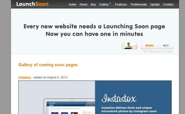 launching soon coming website pages gallery