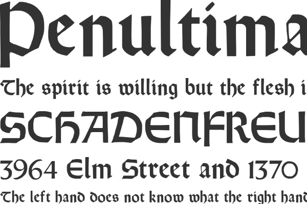 orotund web font open source calligraphy
