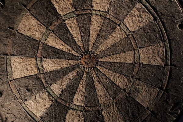 Aged Dartboard Textures