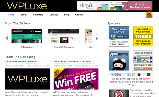 wordpress inspiration gallery wp luxe wpluxe