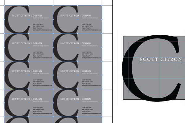 adobe indesign template tutorial business card