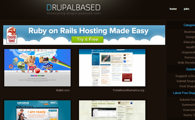 drupal based cms website galley inspiration