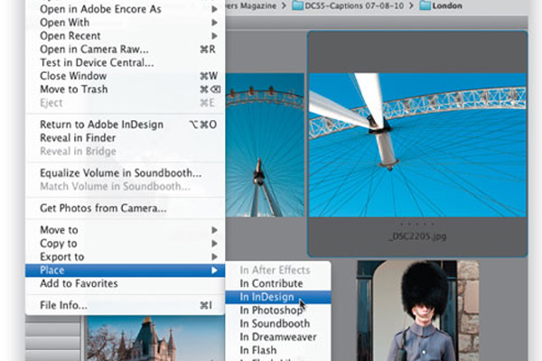 adobe indesign live captions text