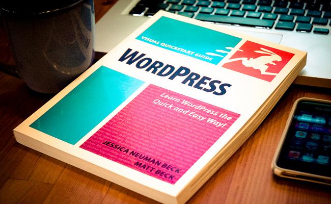 visual quickstart book wordpress desk photo