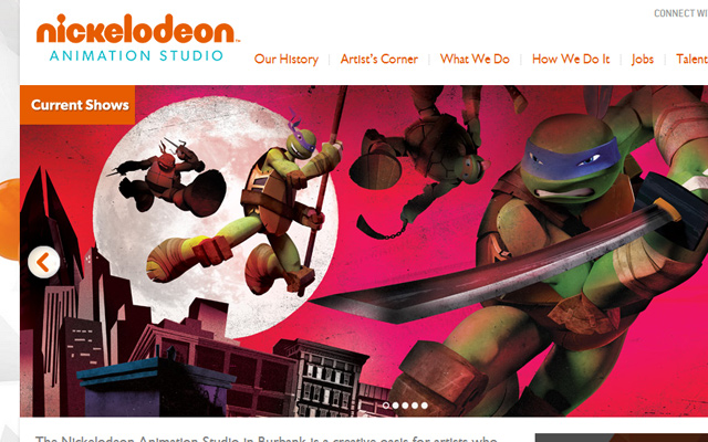 nick nickelodeon studios website animation
