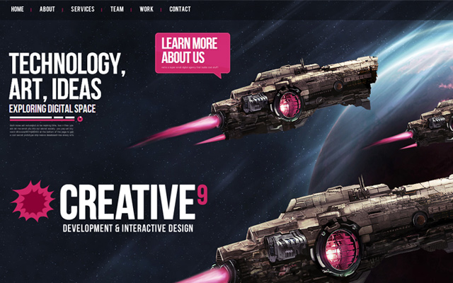 digital agency interactive website creative9