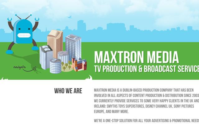 digital website layout maxtron media