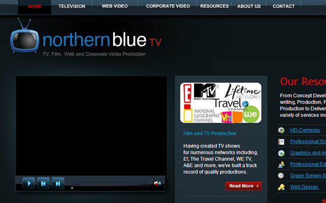 northern blue website layout inspiring