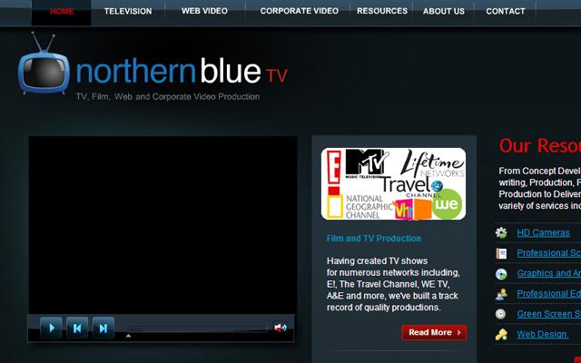 northern blue website layout inspiring