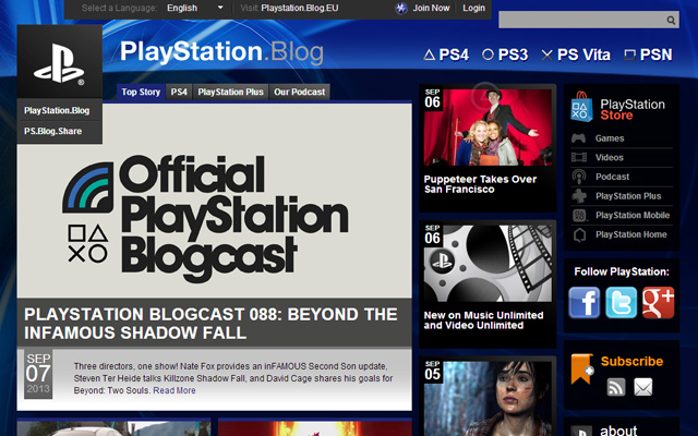 dark blog layout wordpress playstation usa