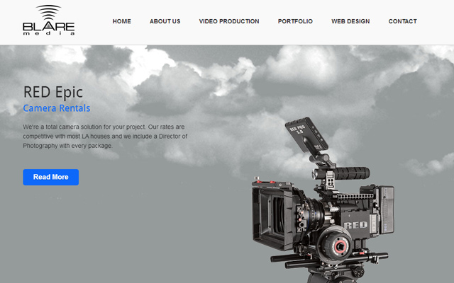 blare media website layout inspiring design