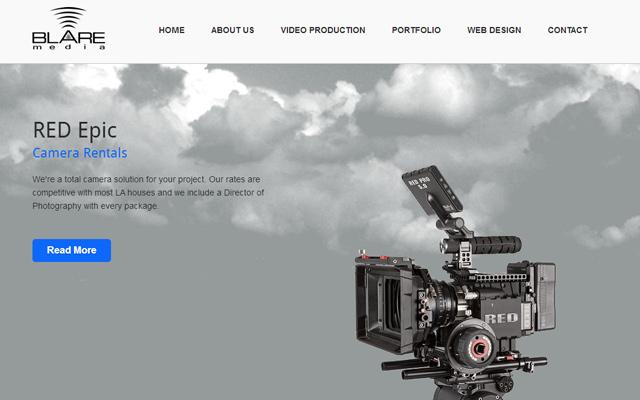 blare media website layout inspiring design