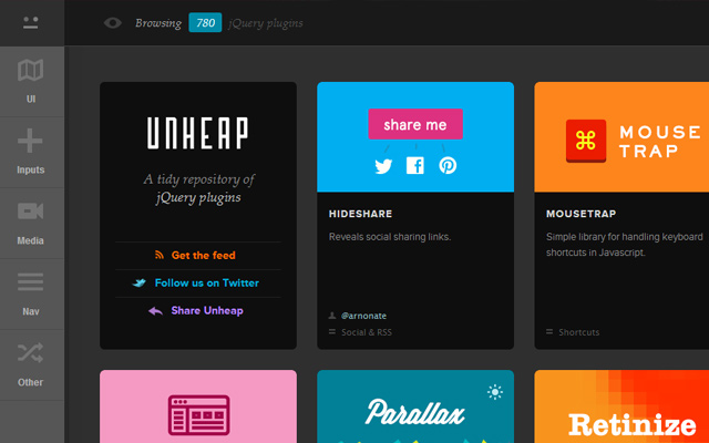 thumbnails design unheap logo jquery gallery website