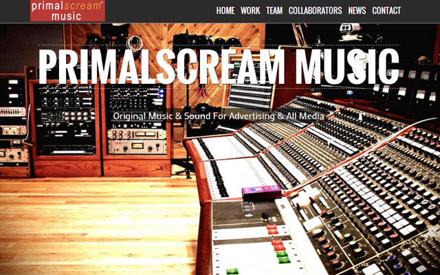 fullscreen background primal scream music website