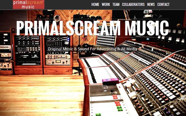 fullscreen background primal scream music website