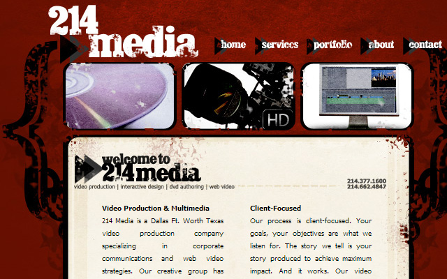 214media production company website dallas texas
