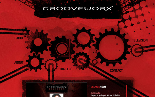 grooveworx website layout production company
