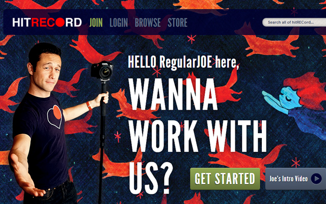 hit record website layout design productions