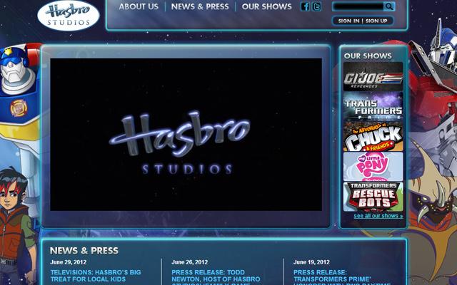 hasbro cartoon animation studios production company website