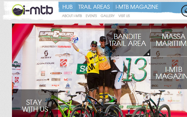 i mtb magazine website wordpress layout
