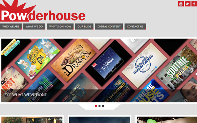 powderhouse website layout inspiring design