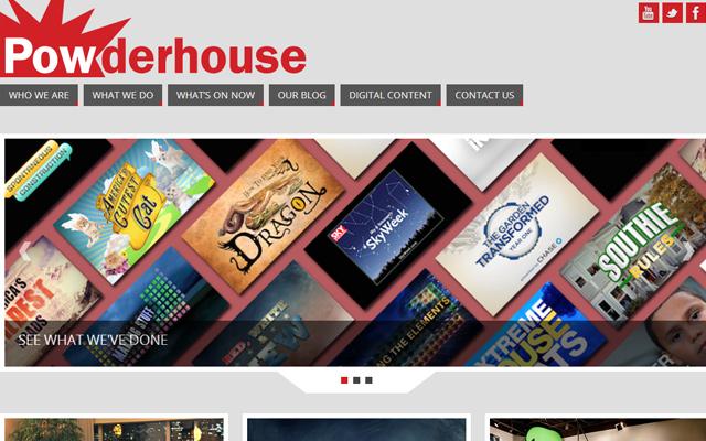 powderhouse website layout inspiring design