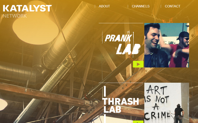 katalyst network website layout design inspiring