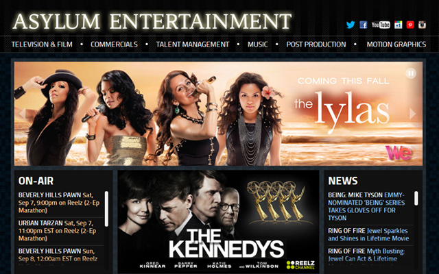 asylum entertainment website production company