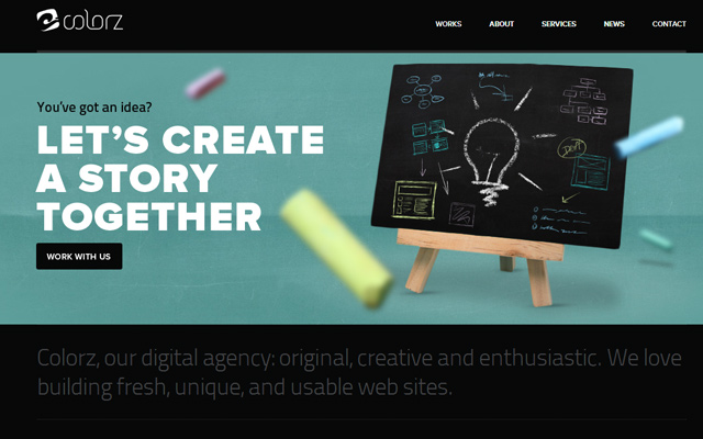 creative digital agency colorz web design wordpress