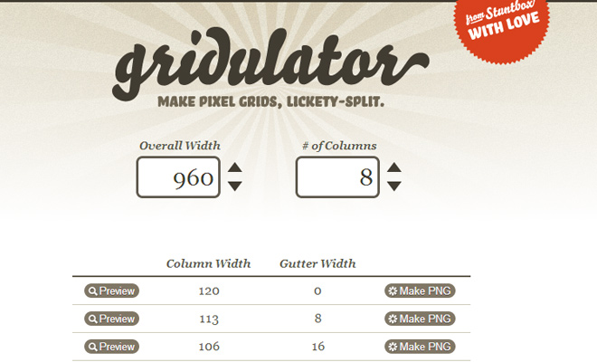 gridulator grid based webapp free open source online
