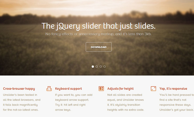 jquery open source unslider plugin screenshot 2013