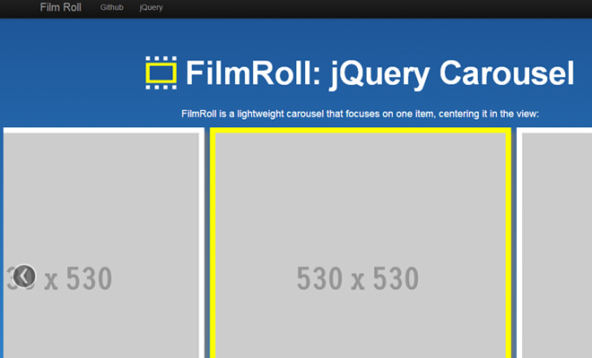 film roll jquery plugin github open source